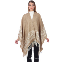 Office Women Poncho Thickened Cloak Split Fork Shawl Female Cashmere Capes Long Scarf Female Poncho