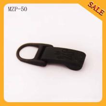MZP50 corredera de cremallera de metal al por mayor y venta al por menor de color negro de pintura metal tirador de cremallera