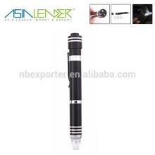 6pcs multi-function pen shape screwdriver tool set with led flashlight