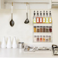 Wall Mounted Clear Acrylic Spice Display Rack