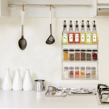 Wall Mounted Clear Acrylic Vertical Spice Storage