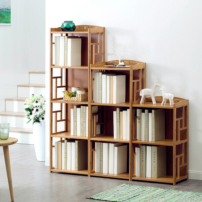 Multi Storey Bamboo Book Shelf