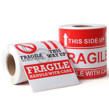 Handle with care Fragile Shipping Warning Label Printing