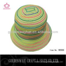 Floral Mix Color Lady Hats chapeaux à godets chapeau de soleil de plage