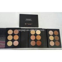 6 color compacto polvo situado en EVA sola caja de Color