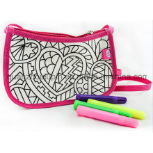 DIY Nylon Washable Student Shoulder Painting Doodle Bag for Gift