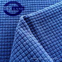 stricken Sie Polyester-Waffel einseitig polar Fleece-Gewebe für Kleidungsstück