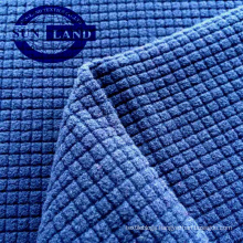 knit polyester waffle single side polar fleece fabric for garment