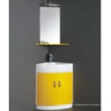 Heißer Verkaufs-PVC-Badezimmer-Schrank mit Spiegel