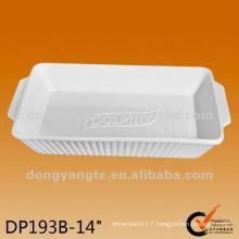 14 Inch Eco-friendly porcelain plates bakeware