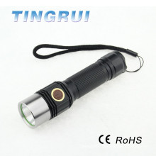 Hot Sale 800lm XM T6 Led solar torch light