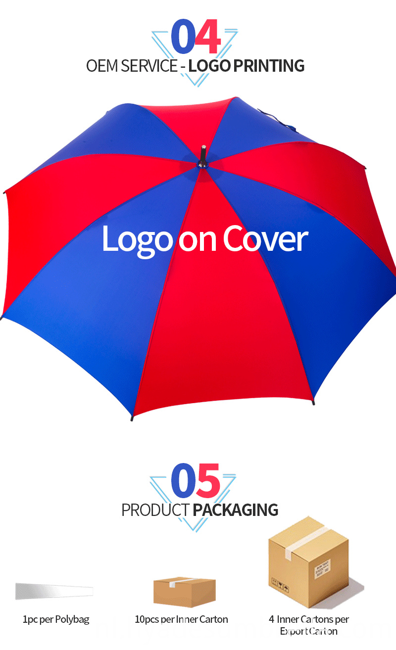 Manual Open Straight Umbrella Advertising Brand Awareness