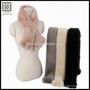 2016 Hot Selling Winter New Fashion Faux Fur Scarf                                                     Quality Assured