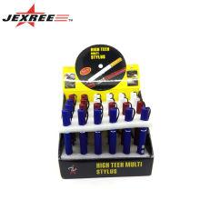 Très populaire stylo tactile multifonctionnel mini led lampe laser stylo laser stylo de réunion