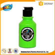 Pintura acrílica não-tóxica personalizada da emulsão da pintura acrílica verde da garrafa 120ML
