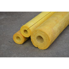 High Temp Glass Wool Pipe Insulation , Yellow Glasswool Pipe Cover