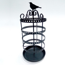 Metal Rotate Birds Jewelry Rack