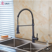 YLK0005-A New design contemporary brass single handle pull out kitchen sink faucet