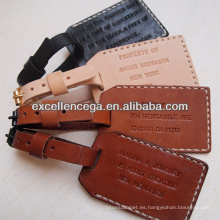 Etiqueta de equipaje de cuero personalizado popular