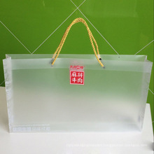 Custom Branding Printing Plastic PP Bag with rope ( big PVC bag)