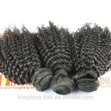 cabelo indiano atacado afro extensões de cabelo crespo cinza cabelo humano tecelagem