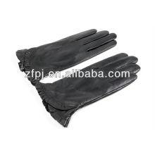 Mode Frauen schwarze Handschuhe Lederprodukte in Dubai
