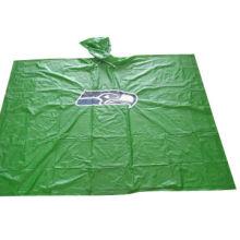 PVC Rain Poncho with 0.10mm Thickness, Sized 50 x 80-inch