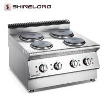 FURNOTEL Série X Aquecimento de aço inoxidável Fogão elétrico 4 fogão a placa de arroz quente