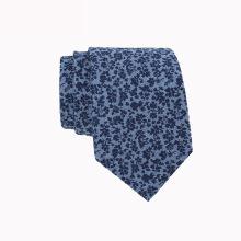 Cravate personnalisée imprimée en lin à la main Floral