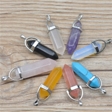 Wholesale Assorted Mixed Natural Stone Pendulum Pillar Pendants