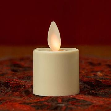Remote Control Luminara Plastic Moving Wick Flameless LED Rechargeable Candle