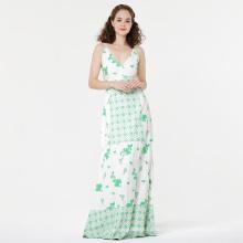 Mode besticktes bodenlanges Kleid