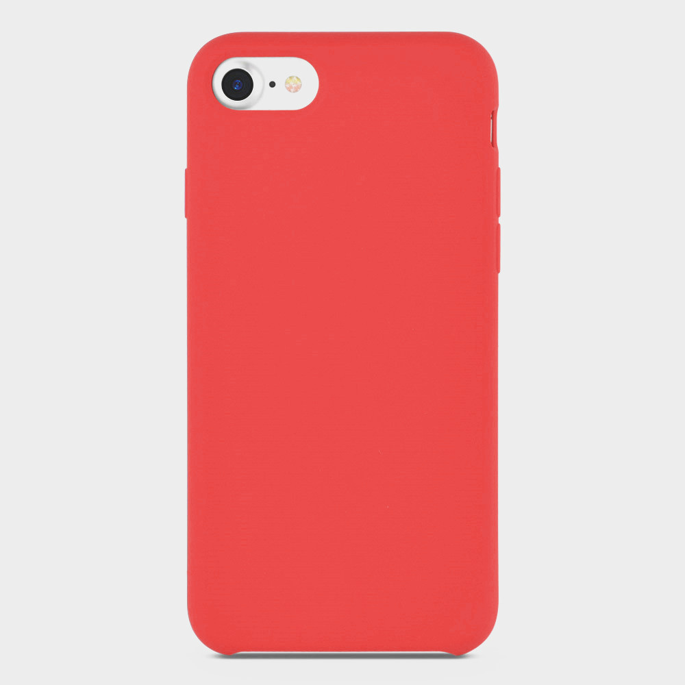 red liquid silicone iphone 6s cover
