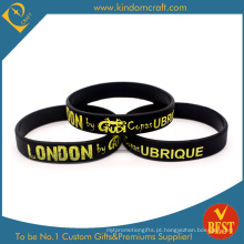 2015 venda quente promocionais moda silicone pulseira (ln-028)