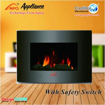 China New Product for European Style Electric Fireplace APG Decor Flame Electric Fireplace supply to Senegal Exporter