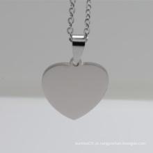 Atacado barato personalizado aço inoxidável coração Tag animal de estimação