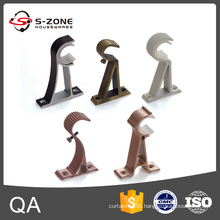 Curtain hardware accessory wall mount bracket