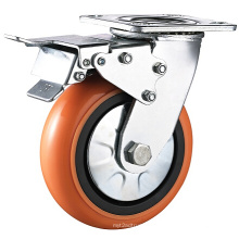 Heavy Duty Total Brake PVC Caster Wheel