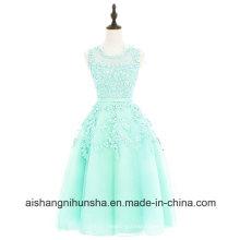 Spitze knielangen schwarzen Tüll Kleid Party Prom Dress
