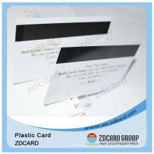 Carte en plastique à bande magnétique en PVC