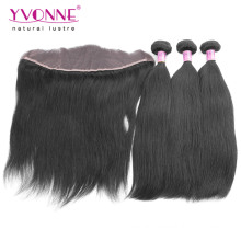 Brazilian Virgin Hair Bundles with Lace Frontal
