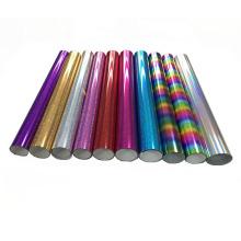 For Clothing Metallic Heat Transfer Flexfoil Hologram Vinyl Korea Quality Easyweed Pu Film Roll Package Angelacrox OEM & Design
