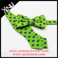 Bespoke Handmade Jacquard Custom Bug Mens Silk Self Tie Bow Ties