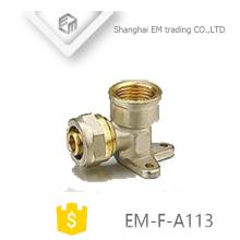EM-F-A113 Tipo Fixo Tee tipo rosca fêmea latão tubo de compressão de encaixe