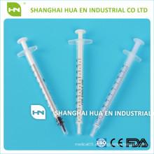 Einweg-Steril-Blisterpackung Luer-Slip 1ml Plastikspritze mit unterschiedlichem Farbpol