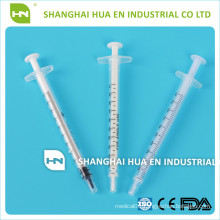 disposable sterile blister packing luer slip 1ml plastic syringe with different color pole
