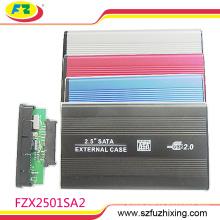 Aluminium alloy USB 2.0 SATA 2.5inch External Hard Drive / HDD Enclosure