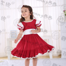 flutter sleeve girls boutique Christmas dress