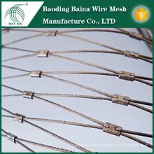 Cable de acero malla de alambre malla de cable de acero red de seguridad