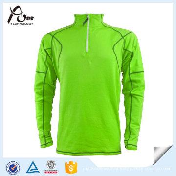 Высокое качество Dri Fit Half Zip с длинным рукавом рубашки поло